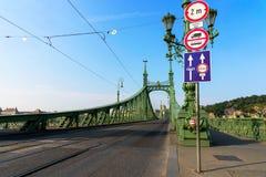 自由桥梁在布达佩斯,匈牙利 免版税图库摄影