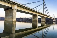 自由桥梁在诺维萨德,塞尔维亚 免版税库存图片