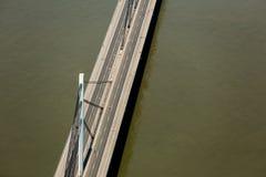 自由桥梁在诺维萨德 库存图片