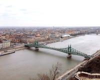 自由桥梁的顶视图 免版税库存图片