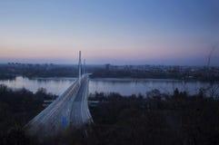 自由桥梁诺维萨德 库存照片