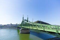 自由桥梁(绿色桥梁),布达佩斯 库存图片
