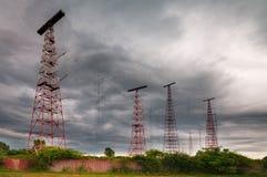 自由欧洲收音机干扰发射台 图库摄影
