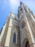 自由正方形的大教堂在诺维萨德,塞尔维亚 免版税库存图片