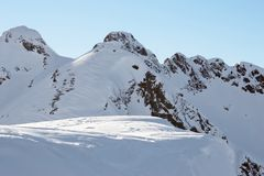 自由滑雪 免版税库存照片