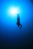 自由的潜水员 免版税库存照片