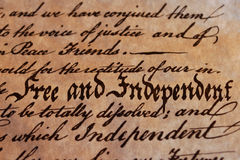 自由的独立 免版税库存图片