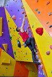自由的登山人人 免版税图库摄影