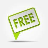 自由的3d标志 免版税库存照片