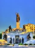 自由纪念碑在尼科西亚 库存照片