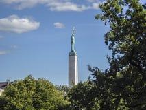 自由纪念碑里加拉脱维亚 库存照片