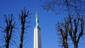 自由纪念碑里加 免版税库存图片