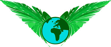 自由绿色行星污染 免版税库存照片