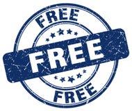 自由蓝色难看的东西圆的邮票 免版税库存照片