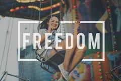 自由被解放的人权自由概念 免版税库存照片