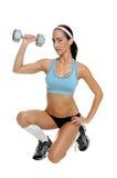 自由重量锻炼 免版税库存照片