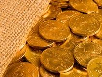 自由金老鹰一盎司硬币 库存图片