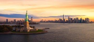 自由雕象在纽约 免版税图库摄影