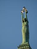 自由雕象在里加 图库摄影