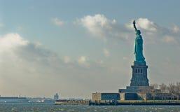 自由雕象纽约美国 免版税库存照片