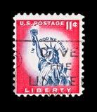 自由雕象邮票 免版税库存照片