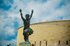 自由雕象(自由雕象)的旁边雕象布达佩斯,匈牙利 库存图片