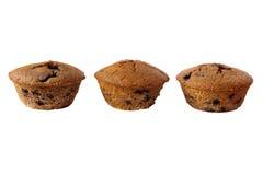 自由面筋查出的松饼三 免版税库存图片