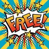 自由!流行艺术文本设计 免版税库存图片