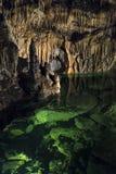 自由Demanovska洞的地下湖  库存照片