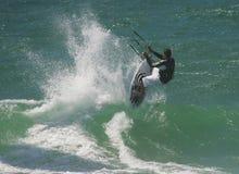 自由kitesurf乘驾 库存照片