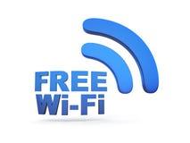 自由Wi-Fi标志 免版税库存照片