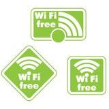 自由wifi和互联网标志 库存照片