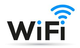 自由wifi商标区域-传染媒介 皇族释放例证