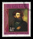 自画象汉斯Makart 1840-84,奥地利画家 库存图片