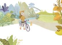 自行车为生活 库存图片