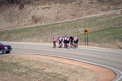 自行车乘驾在农村明尼苏达 免版税库存图片