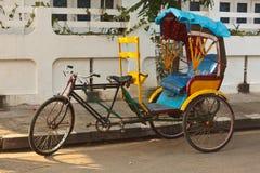 自行车人力车 库存照片