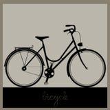 自行车传染媒介例证 免版税库存照片