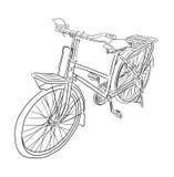 自行车传染媒介剪影 免版税图库摄影
