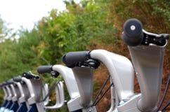 自行车伦敦机架 免版税库存照片