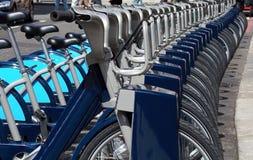 自行车伦敦机架 免版税库存图片