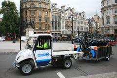 自行车伦敦s模式共享 库存照片