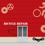 自行车修理车间 图库摄影