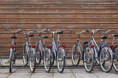 自行车停车场 运输健康方式  没有污染 图库摄影