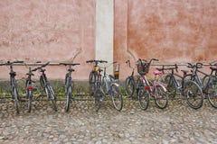 自行车停车场 运输健康方式  没有污染 库存图片