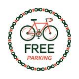 自行车停车处传染媒介 库存图片