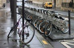 自行车停车处 免版税库存照片