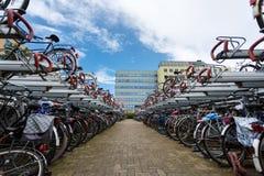 自行车停车处 图库摄影