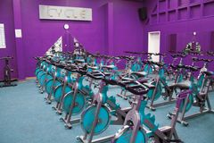 自行车健身空转 免版税库存照片