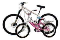 自行车儿童山 免版税库存照片